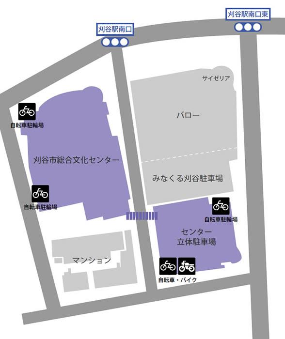 自転車・バイク駐輪場案内図
